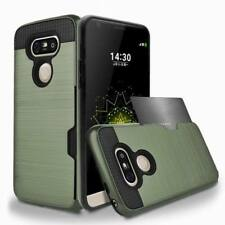 Shockproof Armor Card Holder Hybrid Rugged Hard Case Cover For LG G5 G6 V20 K10