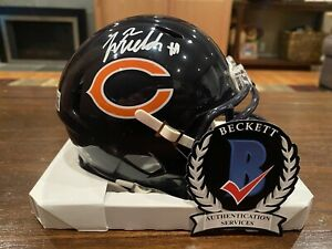 Justin Fields Autographed Chicago Bears Speed Mini Helmet Witness Beckett #4