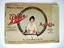 "Vintage Advertising Booklet ""Phez Applju"" w/ Recipes & Colored Pictures *"