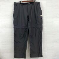 NWT Eddie Bauer XL Mens Convertible Zip Off Dark Gray Nylon Blend Shorts Pants