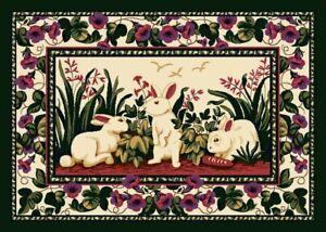 Milliken Cotton Tales Bunny Area Rug