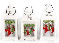 White Ceramic Christmas Led Candle Lantern ~ Design Vary