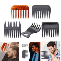 Men Wide Teeth Beard Comb Curling Hairdressing Tool Hair Care Salon Styling Comb