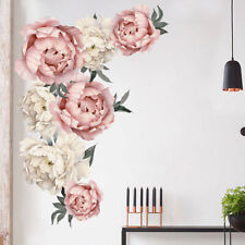 Fresh Peony Flower Wall Sticker Living Room Mural Decal Home Art Decor Beautiful