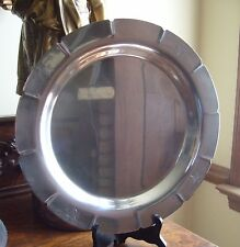 Wm Rogers Silverplate Tray Charger #5611 Star & Eagle 13-1/4""