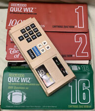 Vintage 1979 Coleco Quiz Wiz System Cart #1, #2, #16 Quiz Books Tested Works NFL