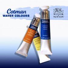 WINSOR & NEWTON - COTMAN WATERCOLOURS - 21ml TUBES - 40 COLOURS - FREE UK POST