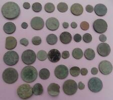 METAL DETECTOR FINDS 46 WORN COINS FROM EAST ANGLIA SUFFOLK BRITISH