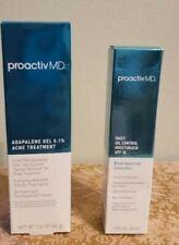 NIB Proactiv MD Adapalene Gel Acne Trtmt 1.6oz,Daily Oil Control Moisturizer 1.5