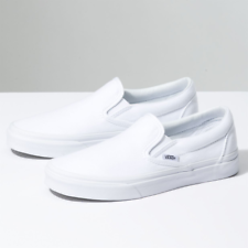 New Men & Women Vans New Classic Slip-On True White Era Sneakers Canvas Shoes