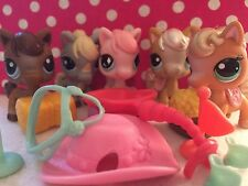 Littlest Pet Shop # Lot Of Horses W/Accessories