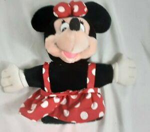 "Vintage Walt Disney Company Applause Minnie Mouse Plush Hand Puppet 10"" Seated"