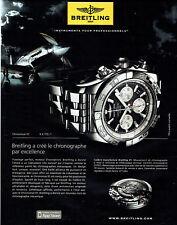 Publicité Advertising 088  2010   montre Breitling  chronomat B01 cosc