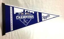 2015 American League Central Division Champions Kansas City Royals Pennant RARE