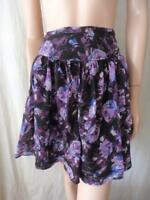 PORTMANS - Purple Silk Flared Skirt Sz 12