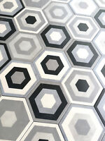8x8 Flora Black White Porcelain Floor And Wall Tile By Squarefeet Depot Ebay