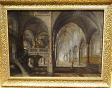 Large 17th Century Dutch Gothic Cathedral Church Interior Pieter II NEEFS