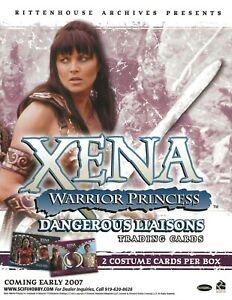 XENA  WARRIOR PRINCESS  DANGEROUS LIAISONS   TRADING CARD DEALER SELL SHEET