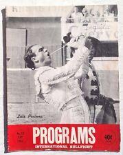 Vintage September 1962 Programs International Bullfight Bullfighting Magazine