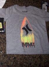 New Hurley short sleeve T shirt boys 12m 18m 24m 12 18 24 months gray surfboard
