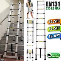 10.5FT 12.5FT 16.5FT Aluminum Multi-Purpose Telescopic Ladder Extension Folding