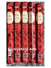 Hem Red Rose Incense Sticks 5 x 20 Stick = 100 Sticks - Hem Incense