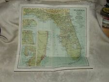 1930 National Geographic Map FLORIDA Williams & Heintz Washington DC