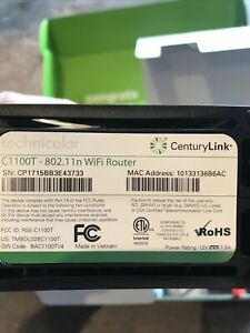 CenturyLink C1100T Technicolor Wireless WiFi Modem Router
