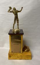 Vintage Butterscotch Yellow Bakelite Football Trophy Lighter Combo