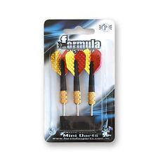 Formula Mini Dart Set of 3 Darts Yellow & Red Flights Short Shafts Birthday Gift