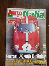Auto Italia magazine Sep 00 Ferrari 275 Cizeta Maserati Lancia Delta integrale