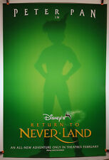 Return to Neverland (Advance) 2002 Original Movie Poster 27x40 Double-Sided