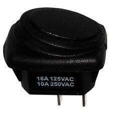 Interruptor conmutador de botón SPST ON-OFF 10A/250V, 2 posiciones IP65, Negro