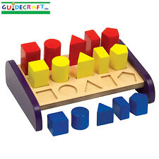 Guidecraft G5071 Children's Manipulative 3 in a Row Sorter