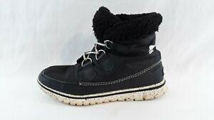 Sorel Womens Black Waterproof Ankle Boots NL2297-010 Size 8.5