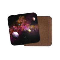 Solar System Coaster - Stars Planets Space Sci-Fi Cool Fun Nebula Gift #13272