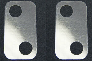 2003-09 Hummer H2 Door Lock Striker Shims Pair 2pcs Clear Plastic New 15101400