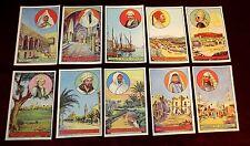 serie 10 Bon points images scolaires Hachette 1930 Tunisie Kairouan Bizerte Sfax