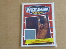 2012 Topps Patrimonio Wwe Wrestling Santino Marella Wrestlemania Fight Mat E6812