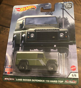 Hot Wheels Premium - BRITISH HORSE POWER 5/5 - LAND ROVER DEFENDER 110 HARD TOP