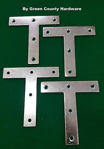 """5 x 4"""" x 4""""  STEEL T Shape plate Corner Repair Brace support strap jointing"""