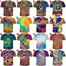 Psychedelic Color 3D Print Men Women Casual T-Shirt Short Sleeve Tees Many Style
