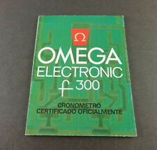 Booklet, in Spanish Vintage Omega Electronic f300