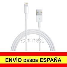 Cable USB a Conector 8 Pin Válido para APPLE de 1 Metro de Color Blanco a0778