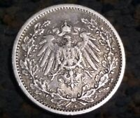 Germany, Empire 1/2 Mark, 1905 A silver