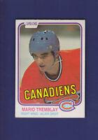 Mario Tremblay 1981-82 O-PEE-CHEE OPC Hockey #192 (EXMT) Montreal Canadiens
