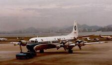 PRINT of Varig Airlines Lockheed Electra II at Santos Dumont Airport 1988