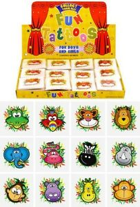 12x Mini Jungle Temporary Tattoos Boys Girls Party Bag & Stocking Fillers