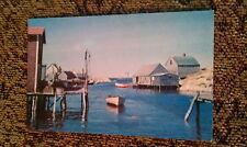 Peggy's Cove, Nova Scotia Fishing Village Vintage Canada Postcard Unused Fish PC