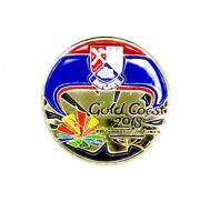 2018 Gold Coast Commonwealth Games Badge Official NOC team BELIZE Pin